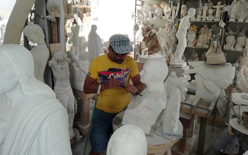 Carrara marble quarries of Michelangelo, sculptor art work